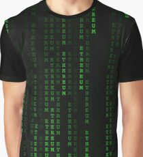 """Ethereum"" Cryptocurrency Matrix Print Graphic T-Shirt"