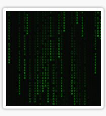 """Ethereum"" Cryptocurrency Matrix Print Sticker"