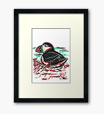 Marker Critters - Puffin Framed Print