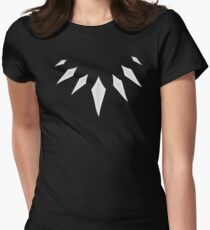 Black Panther Necklace Women's Fitted T-Shirt