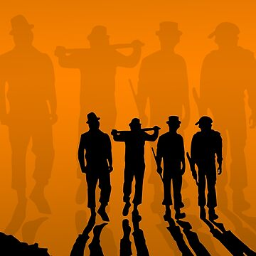 Clockwork Orange - silhouette the droogs by harkness1991