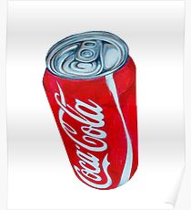 Bright Red Coca-Cola Can Poster