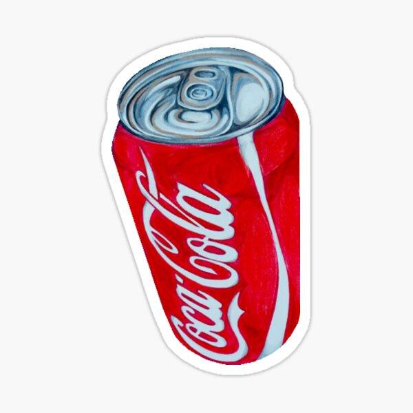 Bright Red Coca-Cola Can Sticker