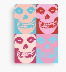Warhol-Style Misfits Fiend Skull Canvas Print