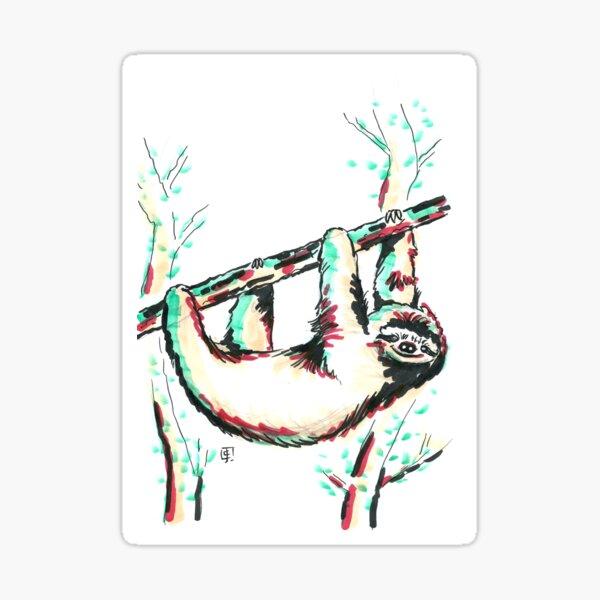 Marker Critters - Sloth Sticker