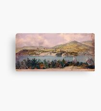 Panorama of West Point from Constitution Island by John Rubens Smith (c 1820) Canvas Print