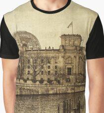 berlin reichstag, vintage Graphic T-Shirt