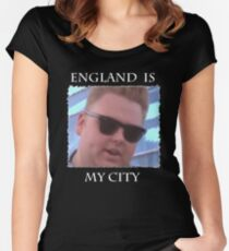 England Is My City T-Shirt (Black) Women's Fitted Scoop T-Shirt
