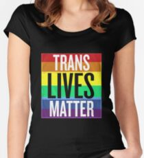 Trump Transgender military Women's Fitted Scoop T-Shirt