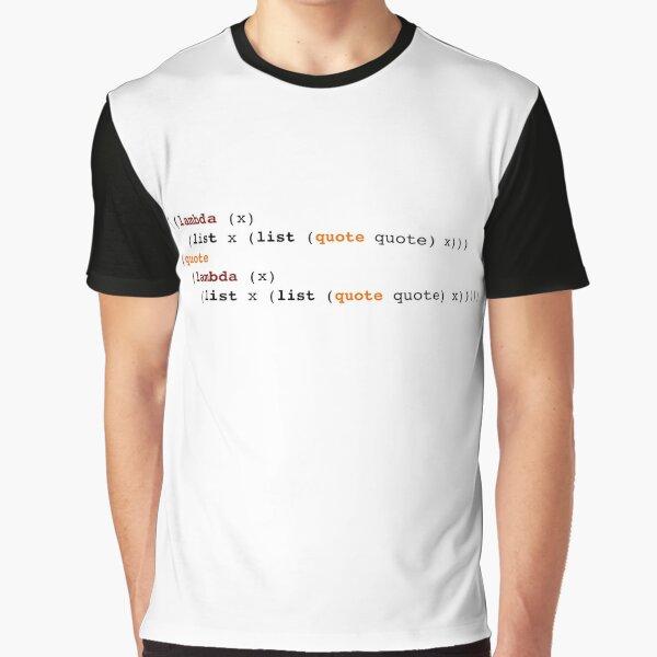 Self-Reproducing Lisp Program (Quine) Graphic T-Shirt