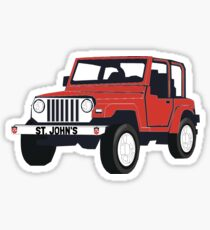 Saint John's Jeep Sticker