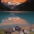 Sunrise at Lake Louise by Eivor Kuchta