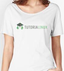 tutorialinux Penguin logo, wide Women's Relaxed Fit T-Shirt