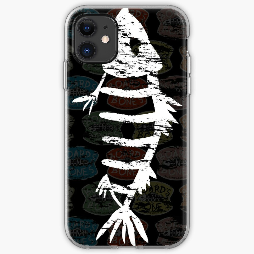 Distressed Fishbone Cover (Dark) iPhone Case & Cover
