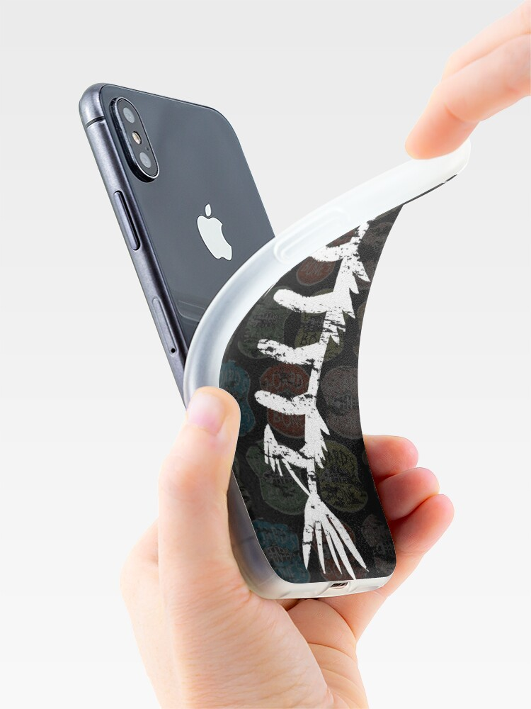 Alternate view of Distressed Fishbone Cover (Dark) iPhone Case & Cover