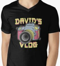 David's Vlog Retro T-Shirt Men's V-Neck T-Shirt