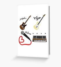 All Phoenix Band Members Together Greeting Card