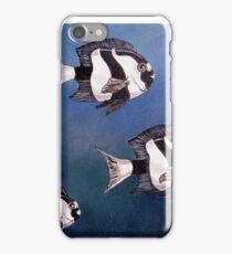 Black & White Damselfish iPhone Case/Skin