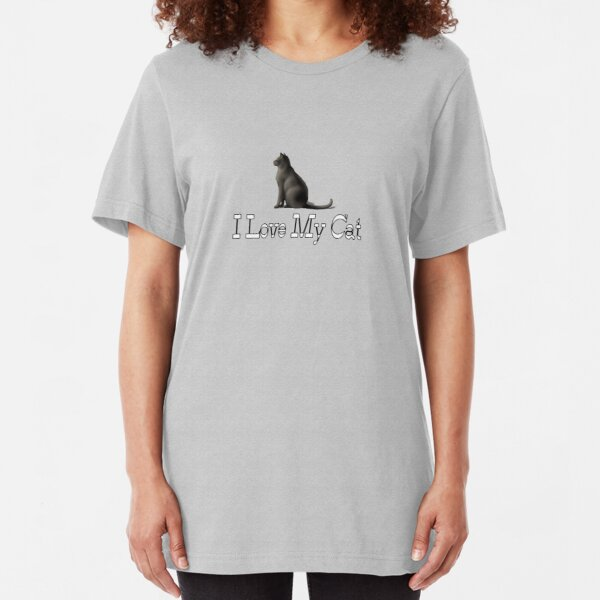 I Love My Cat Slim Fit T-Shirt