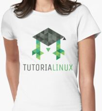 tutorialinux Educated Penguin logo, large square T-Shirt