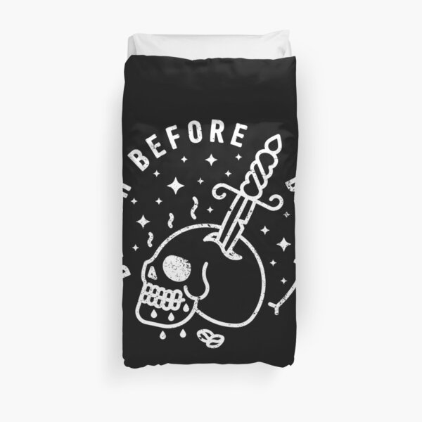 Death Before Decaf Duvet Cover