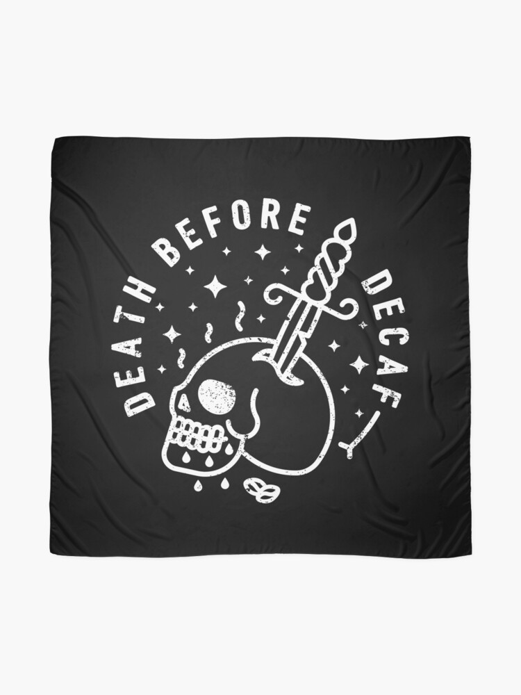 Alternate view of Death Before Decaf Scarf