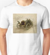 AUTOMOBILE RACING : Vintage Painting Print T-Shirt