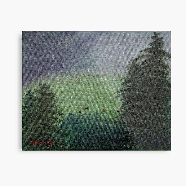 Deer in the Meadow Metal Print