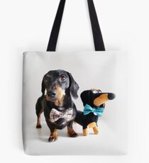 Ludo and Buddy the Dachshunds Tote Bag