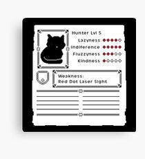 RPG Video Game Cat Canvas Print