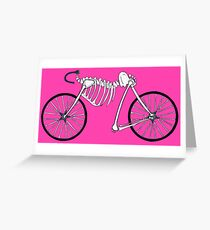 Pink Bone Bike Greeting Card