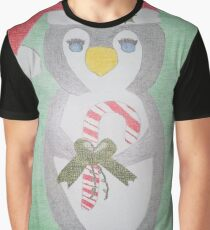 Christmas Penguin Graphic T-Shirt