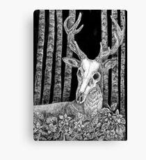 Death's Head Stag Canvas Print