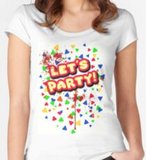 FNAF lets party Women's Fitted Scoop T-Shirt