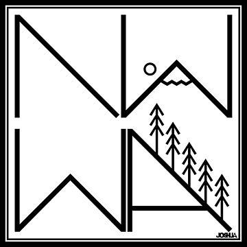 Northwest Washington (Black Outline) by MeInTheMirror