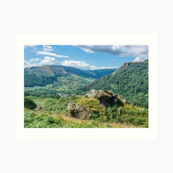 Looking down to Blaenrhondda, south Wales Art Print