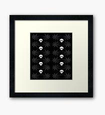 Skulls & Spiderwebs Framed Print