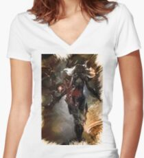 League of Legends IRELIA Women's Fitted V-Neck T-Shirt