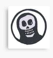Sacred Skull with Halo Canvas Print