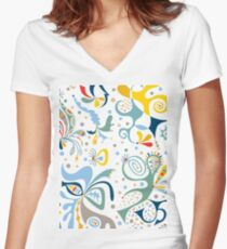 real deal white Women's Fitted V-Neck T-Shirt
