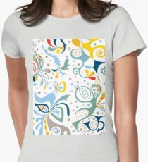 real deal white Womens Fitted T-Shirt