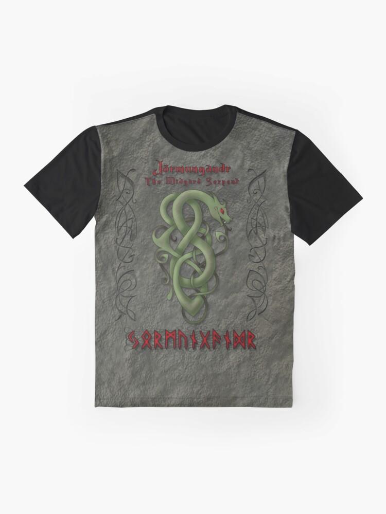 Alternate view of Jörmungandr The Midgard Serpant Graphic T-Shirt