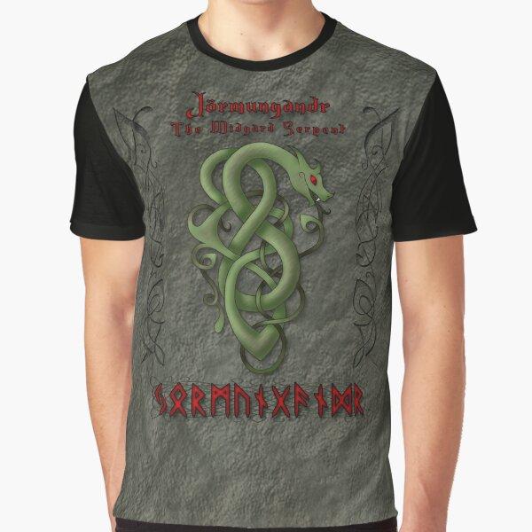 Jörmungandr The Midgard Serpant Graphic T-Shirt