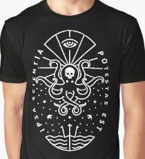 Connaissance - Blanc / Crâne T-shirt graphique