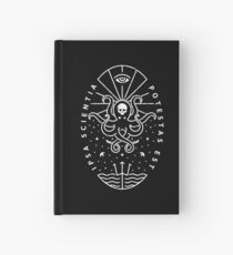 Knowledge - White/Skull Hardcover Journal