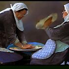 Baking pita  by JudyBJ