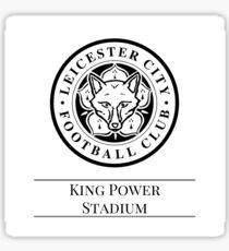 Black & White Football - Leicester CIty Sticker