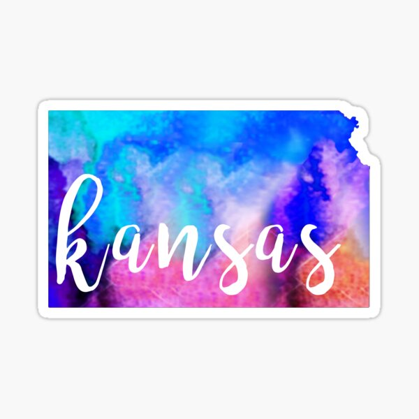 Kansas - Watercolor Sticker