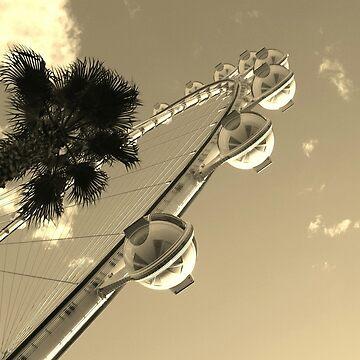 Ride to the rop of Vegas by TinaCruzArt1