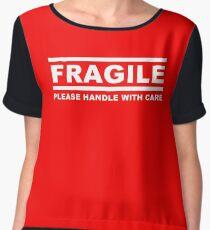 Fragile sign Women's Chiffon Top